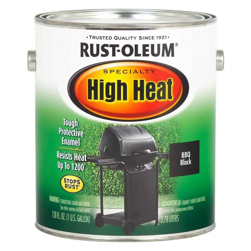 Buy The Rust Oleum 233967 High Heat Brush On Enamel Bbq Black Gallon Hardware World