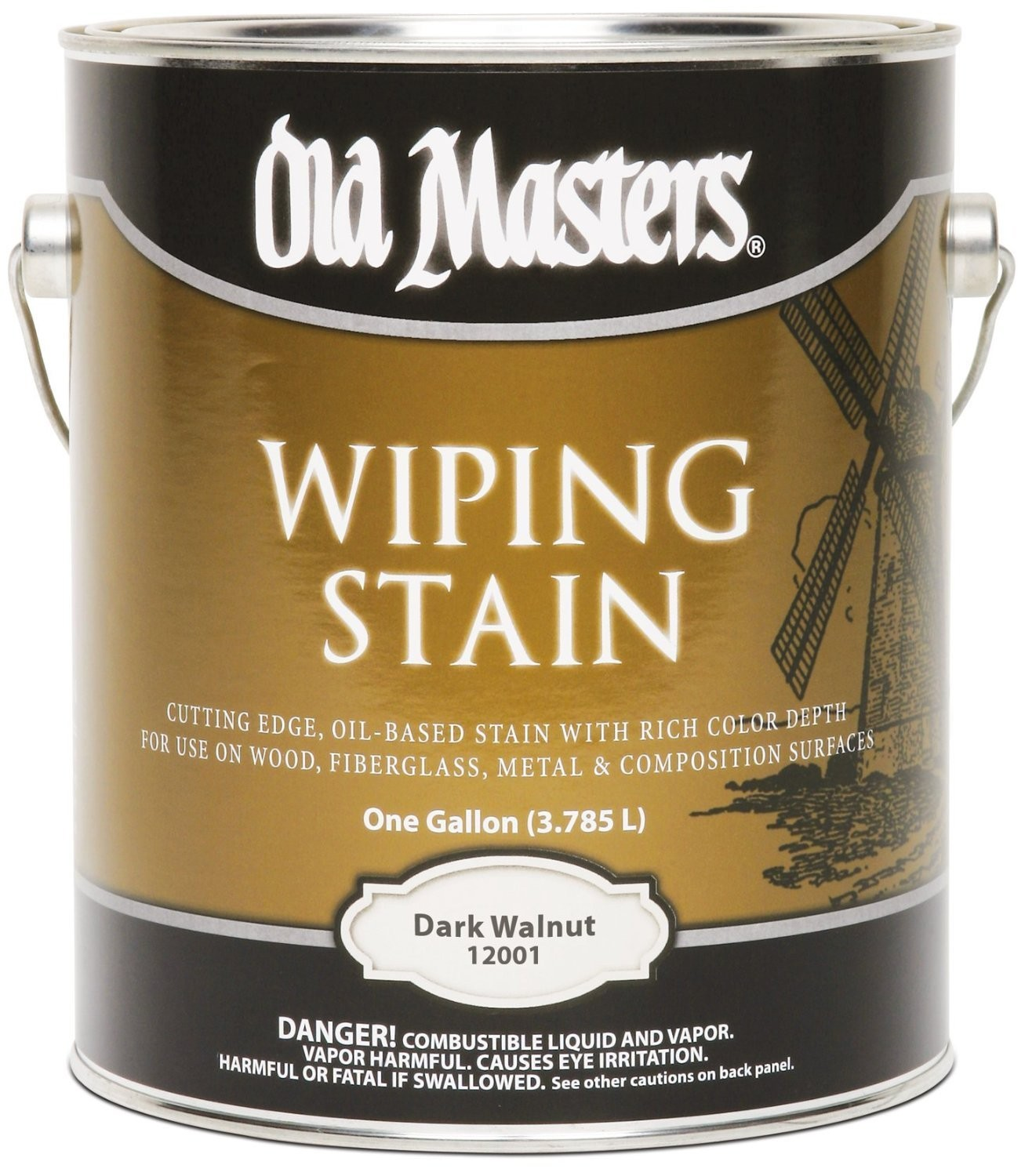 Buy The Old Masters 12001 Wiping Wood Stain Dark Walnut Gallon Hardware World
