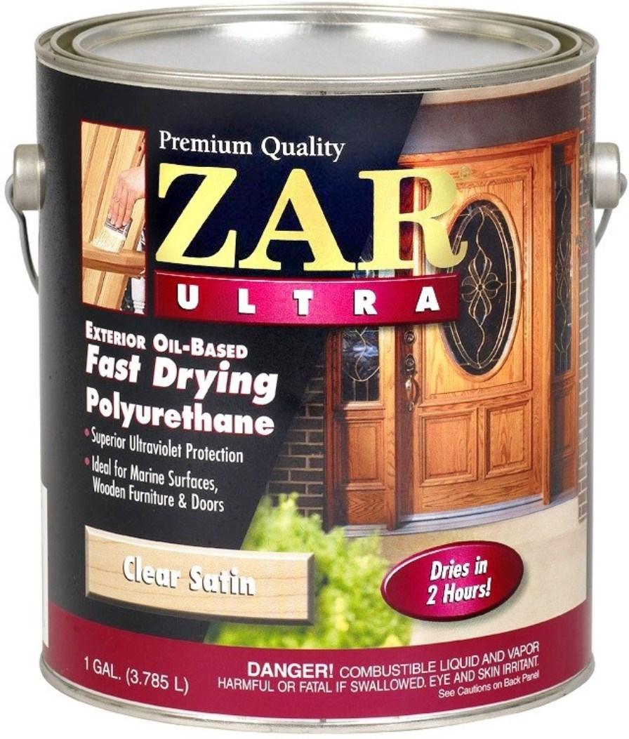 Buy the ugl 34113 zar ultra exterior polyurethane satin gallon hardware world for Zar exterior water based polyurethane