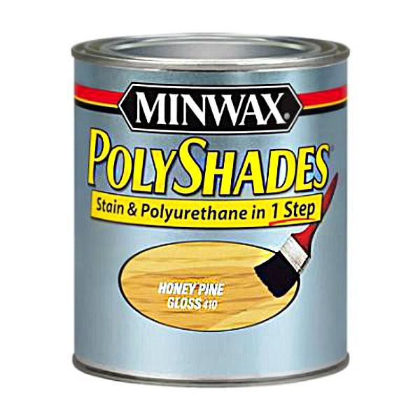 Buy the minwax 21410 polyshades stain honey pine gloss 1 for Minwax polyurethane