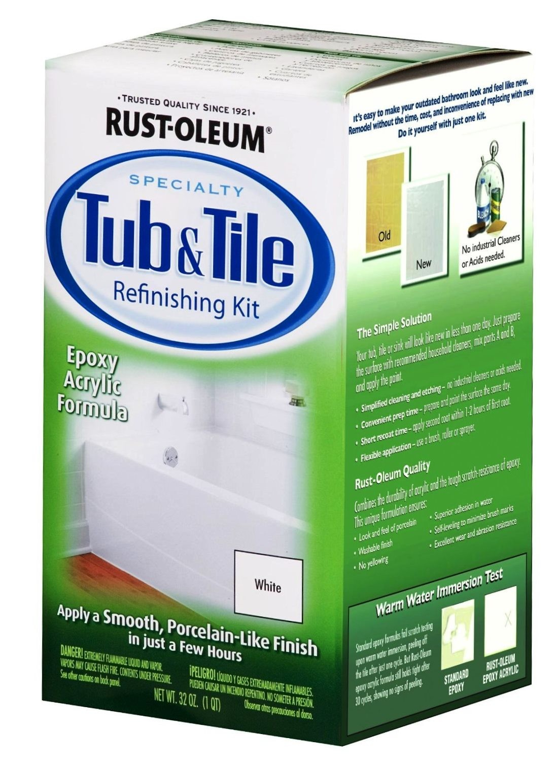 buy the rust oleum 7860 tub tile refinishing kit white hardware. Black Bedroom Furniture Sets. Home Design Ideas